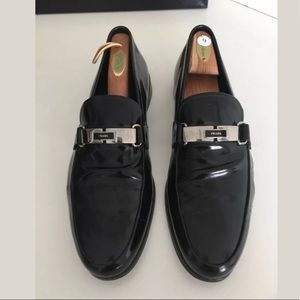 Prada Italy Black Leather Dress Shoes Size 9